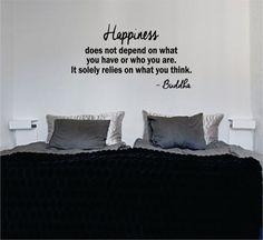Buddha Happiness Quote Decal Sticker Wall Vinyl Decor Art