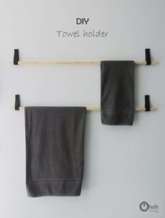 HOW TO leather belt and wooden dowel towel bar