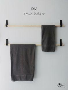 DIY Towel hanger
