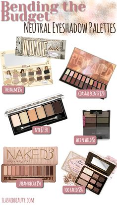 Inspiration on Bending the Budget: Neutral Eyeshadow Palettes by Miranda Mendoza. Check out more Makeup on Bellashoot. Makeup Blog, Makeup Dupes, Love Makeup, Skin Makeup, Best Drugstore Eyeshadow, Makeup Ideas, Simple Makeup, Makeup Cosmetics, All Things Beauty