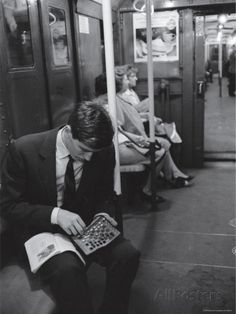 Chess Champion Bobby Fischer Working on His Moves During a Subway Ride-Carl Mydans-Premium Photographic Print Bobby Fischer, Notes From Underground, Chess Strategies, New York Vacation, Chess Players, Kings Game, New York Life, Chess Pieces, Life Pictures
