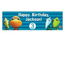 Personalized Dinosaur Train Happy Birthday Banner