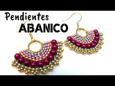How to make a pair of Hand Fan Earrings - Beading Ideas DIY Paper Quilling Jewelry, Tatting Jewelry, Seed Bead Earrings, Diy Earrings, Seed Beads, Jewelry Patterns, Bracelet Patterns, Beaded Rings, Beaded Jewelry