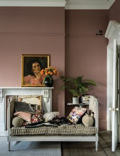 British paint manufacturer Farrow & Ball has expanded its extensive color card with nine new shades. Carefully chosen to balance Farrow & Ball'. Farrow Ball, Farrow And Ball Paint, Farrow And Ball Living Room, Dado Rail Living Room, Living Room Accent Wall, Living Area, Farrow And Ball Kitchen, Most Popular Paint Colors, New Paint Colors