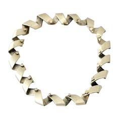 Antonio Pineda Taxco .970 Silver Necklace | 1stdibs.com