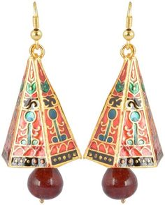 Waama Jewels Golden Brass Jhumki Earrings for Women (WJ049) [Jewellery]