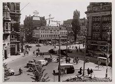 August 1956. Leidseplein, Amsterdam. Gallery Urban Photos Rotterdam & Amsterdam #amsterdam #1956