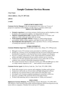 customer care resume