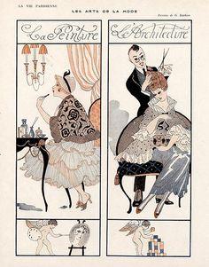 La Vie Parisienne 1916 ~ George Barbier