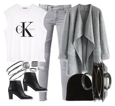 """""""Untitled #3650"""" by amyn99 ❤ liked on Polyvore featuring Effy Jewelry, AllSaints, Chicwish, Warm-Me, Calvin Klein, Acne Studios and Yves Saint Laurent"""