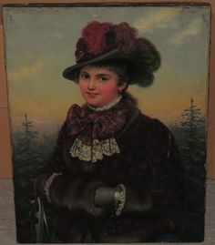 Restaurando-molto dettagliata sottili Arte Pittura-la signora sottili in Antiquitäten & Kunst, Malerei, Gemälde 1800-1899 | eBay