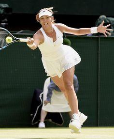 Garbiñe Muguruza en la final de Wimbledon