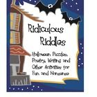 Keep your students engaged and challenged with this 89-page packet filled with fun Halloween poetry, puzzles, and writing.  $5.00