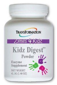 Kidz Digest Powder (41.5g) by Transformation Enzyme. $39.50. Transformation takes great care to use only non allergen ingredients.*. Enzyme Blends. Three enzyme blends work together to encourage a more complete digestion: a polysaccharolytic blend to assist with the digestion of sugars and starches,. Kidz Digest  is easy to administer. Two berry-flavored tablets with each meal and/or snack will promote healthy digestion and elimination.. Kidz DigestTM supports hea...
