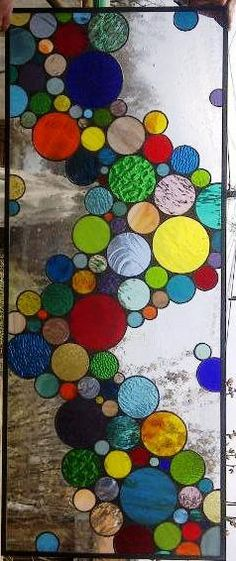 Large Contemporary Stained Glass Bubble by TerrazaStainedGlass