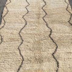 Moroccan Beni ourain handwoven Berber rug vintage carpet artwork home decor