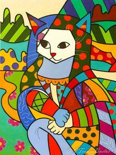 Pintura a óleo- releitura Romero Brito- Gatalisa
