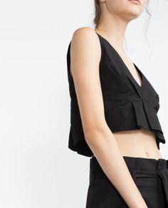 Imagem 4 de TOP POPELINA FRANZIDO da Zara