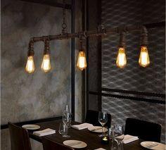 Retro Vintage Lamp Wasserrohr water pipe loft bar design restaurant   eBay