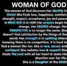 Woman of God should be one with Yeshua before she even considers being one with a man. For only her love for God will attract an equally godly man chosen by God.