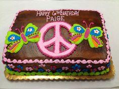 peace sign birthday cakes for girls 11th Birthday, Birthday Cake Girls, Birthday Bash, Birthday Cakes, Birthday Ideas, Birthday Parties, Diy Travel Toys, Peace Sign Birthday, Peace Cake