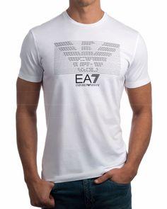 Camiseta Armani EA7 multilogo - Blanca