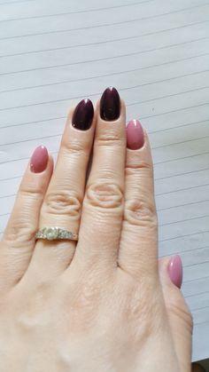 #gelnails #pink #darkviolet
