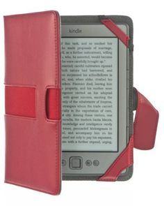 M-EDGE Executive Jacket Foldable Folio Cover Case for Kindle Touch eReader - Red (Comes with a Secure Credit Card Sleeve) by M-Edge. $39.99. The M-Edge Executive Jacket boasts a sleek, streamlined design that bridges the gap between work time and play time. Stash your business cards and other essentials in the Executive's convenient interior pocket. The soft microsuede interior and durable microfiber exterior protect your Kindle while the four point mounting system holds it secur...