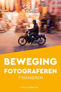 Fotografie tips: 7 manieren om beweging te fotograferen. Weet jij alle zeven manieren? In het artikel de invloed van de camera-instelling en de sluitertijd op het eindresultaat, zoals bij panning (meetrekken in het Nederlands). Handige fotografie tips voor beginners. Het artikel is  interessant voor iedereen die een Nikon of Canon (of ander merk) spiegelreflexcamera heeft. #fotografietips #camerainstelling