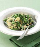 Fazolky s česnekem a nivou - ApetitOnline.cz Green Beans, Spinach, Keto, Vegetarian, Dinner, Vegetables, Cooking, Recipes, Anna