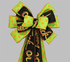 Trick or Treat Halloween Polka Dot Bow