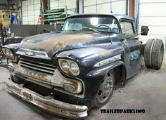 Heavy duty classic Chevy dually..