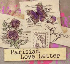 Embroidery Designs at Urban Threads - Parisian Love Letter (Design Pack)