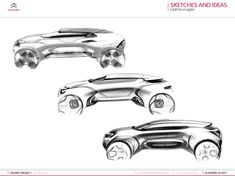 Gashetka | Transportation Design — 06.06.2014 | Citroen Canyon SUV Project | Diploma... Car Design Sketch, Car Sketch, Automotive Design, Auto Design, Futuristic Cars, Cheap Cars, Car Painting, Transportation Design, Design Reference