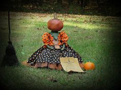 Pumpkin Doll Halloween Pumpkin Pumpkin Dried by thecattsuglybabies