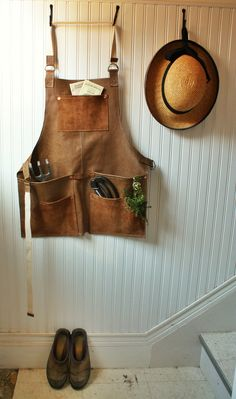 Leather Garden Apron by HandSown on Etsy, $85.00