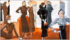 Dressmakers Terms. Art deco fashion.