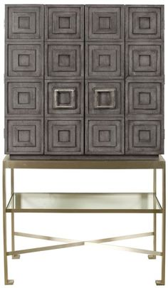 Vanguard Furniture: W717BC-LG Knickerboker Bar Cabinet (Can be customized in finishes however, bas is only Stainless Steel)