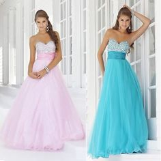 longo rosa estoque azul brilhos vestido de baile baile laço formal vestido de noite andar de casamento duração ynlf071 52.63
