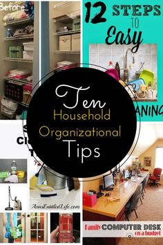 Check out these 10 household organizational tips that you need to know. They'll help you clean, organize, and get your home in tip top shape!  #organize