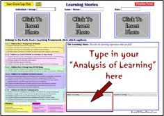 Learning Stories Template available in Online EYLF Tools