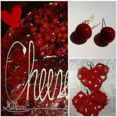 https://flic.kr/p/E7mo6V | Earrings for S.Valentine and RIBES Inspired | ->Fimo bubble earrings ->Tatting Heart shape #02 Earrings www.facebook.com/985802318129317/photos/a.987534034622812...