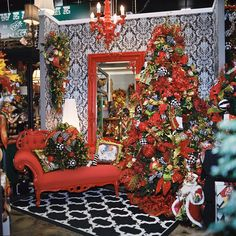 Miss Cayce's Christmas store - red,black,white,green