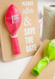 Unique Save the Date idea