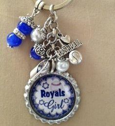 Kansas City Royals Baseball Inspired Key Chain by AmyDawgsBoutique, $6.00