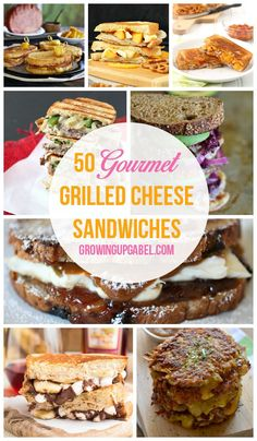 Forget white bread and orange cheese! It's time to liven up your grilled cheese sandwich with these 50 Gourmet Grilled Cheese Sandwiches!