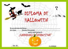 Diplome de Halloween Halloween 3, School, Blog, Desktop, Poster, Puzzle, Crafts, Character, Autumn