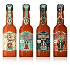 Inferno Sauce on Packaging of the World - Creative Package Design Gallery