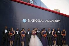 Magical Aquarium Wedding in Baltimore: L'Oreal + Jeff