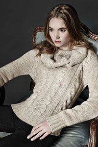 Style#:  Sp16257 - Addison Cowlneck Pullover Cashmere